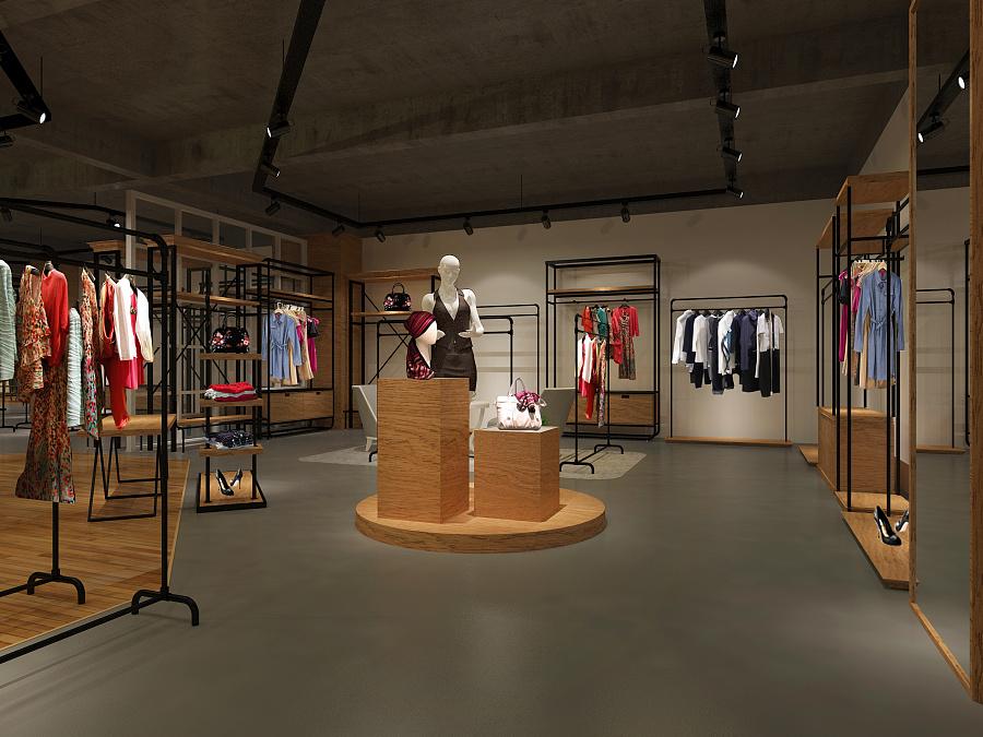 服装展厅|展示/橱窗/店面设计|空间/建筑|彦狼