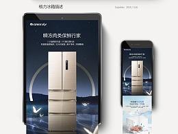 格力冰箱产品页面设计