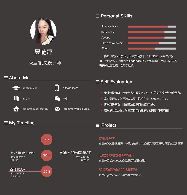 中二病ui设计师简历|ui|图标|骄傲的一比 - 原创作品图片