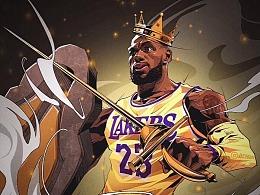 展望新賽季,回顧舊賽季,NBA體育籃球插畫集美漫寫實
