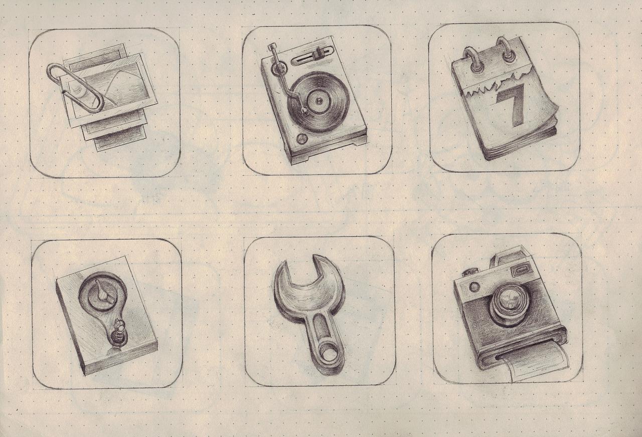 手机图标手绘练习