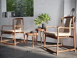 中式椅子小茶几表现