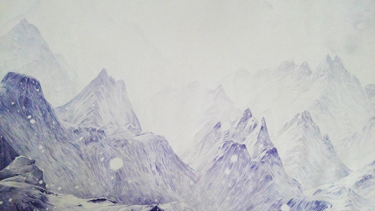 圆珠笔画《心灵旅途》作品欣赏