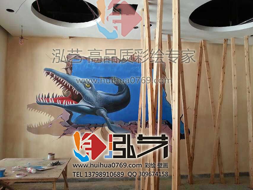 东莞3d手绘墙