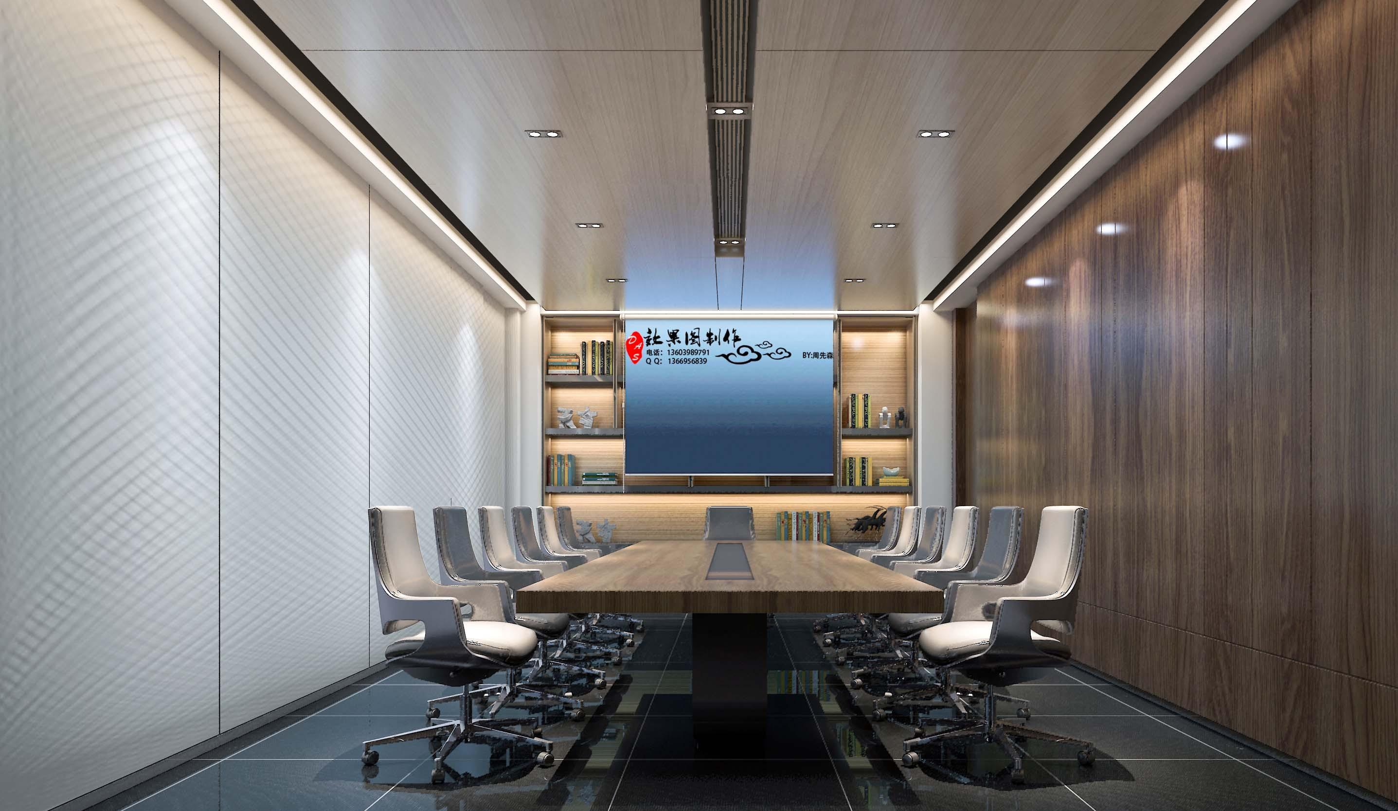 一套办公室会议室的效果图肯定不是loft的图片