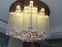 酒店电梯间水晶灯定制工厂铭星灯饰专业定制大型水晶灯