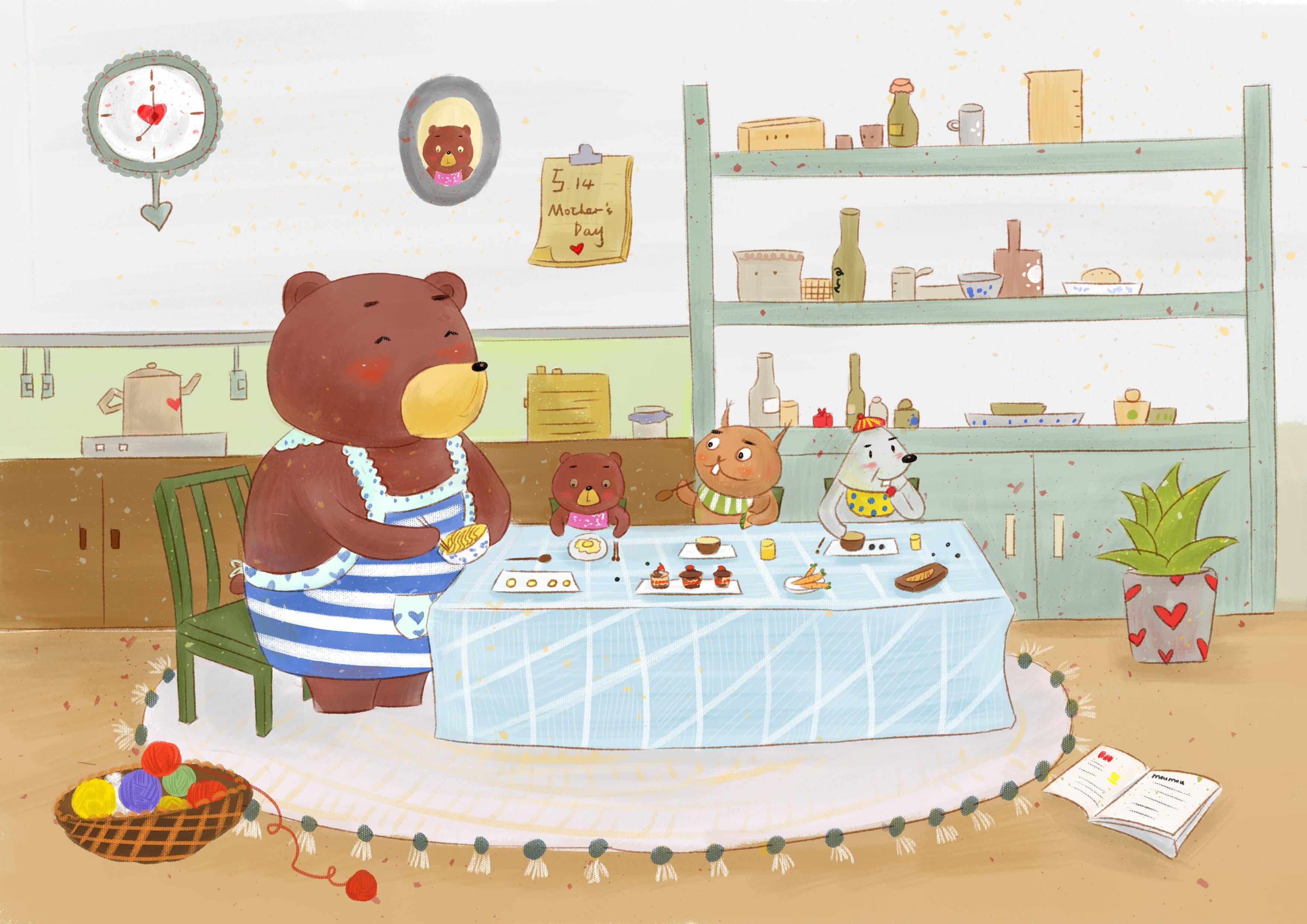 幸福早餐|插画|儿童插画|_moumou_ - 原创作品 - 站酷