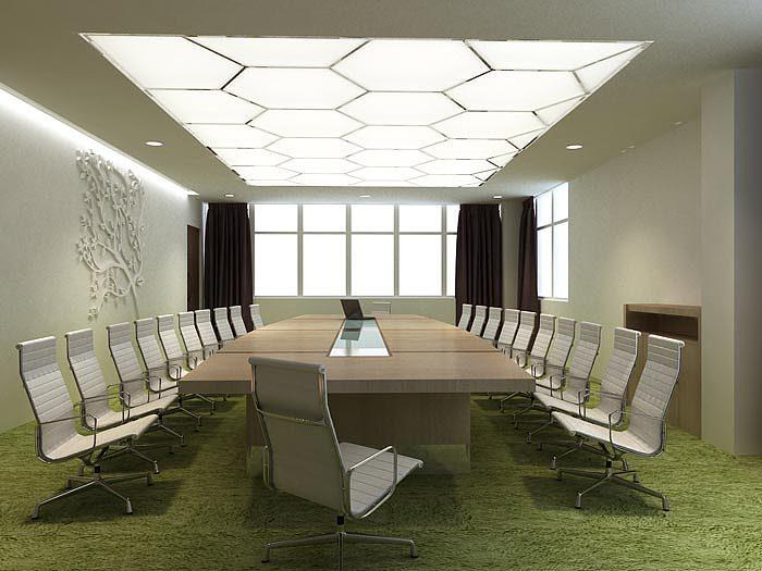 科技公司办公室装修设计案例效果图图片