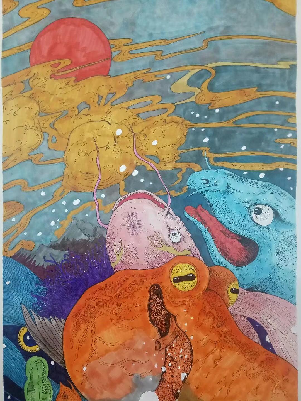 海底小动物简笔画大全