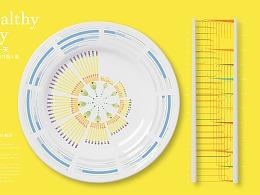 健康的一天数据信息图表