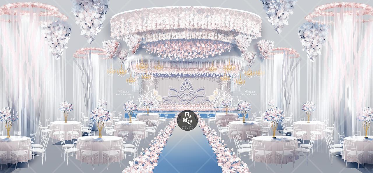 婚礼手绘 — 电脑 「如梦似幻」