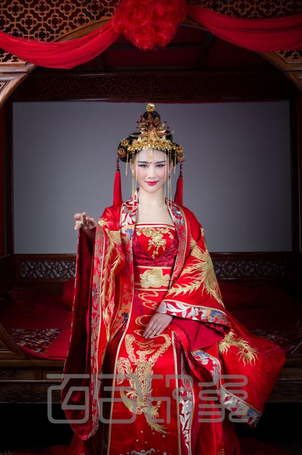 百合印象高级定制-中式嫁衣系列-古装嫁衣图片