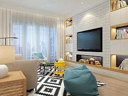 室内设计0基础班刘同学CAD作品——家装北欧风作品