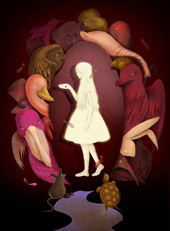 查看《企鹅青少年文学经典《爱丽丝漫游仙境》》原图,原图尺寸:590x800