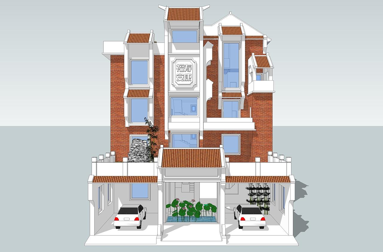 该模型是晚辈闲暇无聊时候弄的。 一直在想象未来老家的房子要如何改造,原来的房子还是毛坯房,没有那些屋顶装饰什么的,房子保留了传统的天井设计,因为老房子是砖混结构,所以一层无法改造成6米高的客厅,于是把三层和四层客厅连在一起,算是楼中楼吧,二楼有个屋顶花园,是为妈妈种菜预留的地方。 希望自己能多加努力,有机会把老房子休整成梦中所想的样子,加油!!