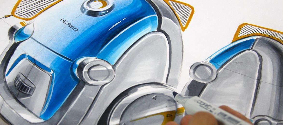 高品质工业产品设计手绘效果图谍照