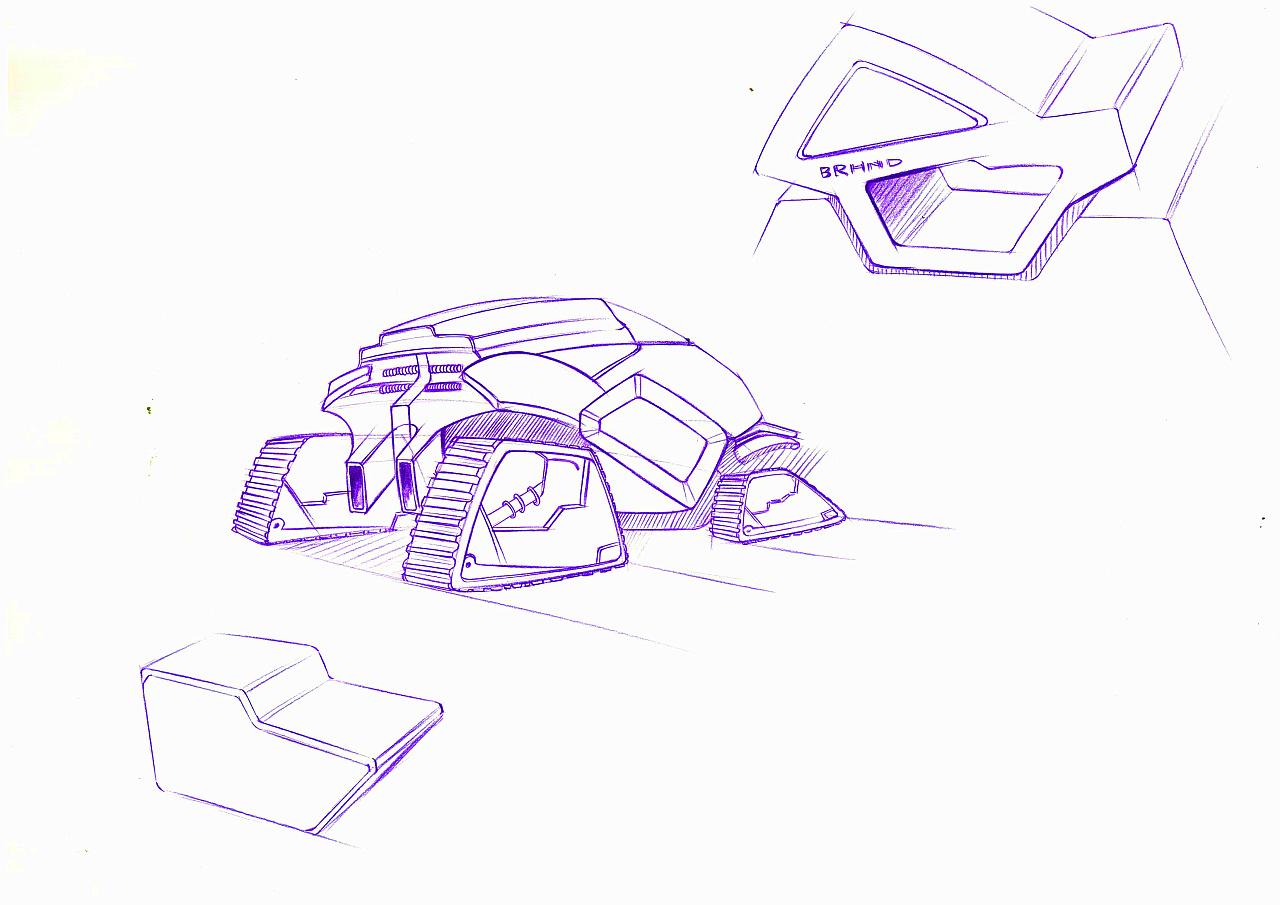 手绘图色立体几何图