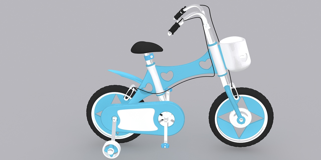 儿童自行车|工业/产品|交通工具|m萧萧 - 原创作品