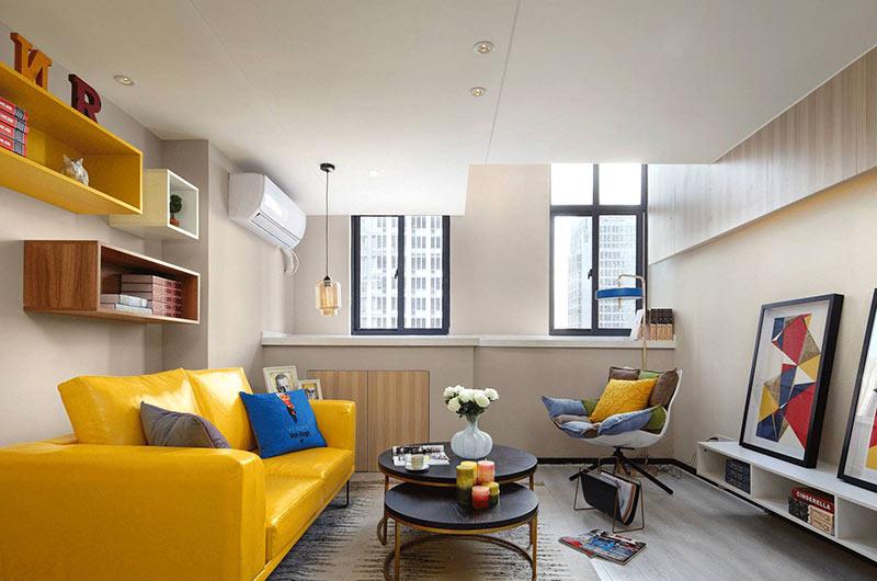 小户型复式楼房装修效果图 色彩创造无限可能|室内图片