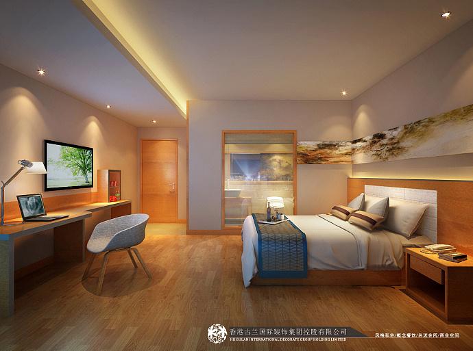 锦途商务酒店商务装修设计-甘肃白银城市酒店开发软件绘制3d图图片