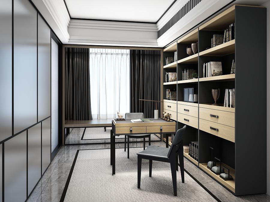尚品书房|室内设计|空间|轩辕视觉 - 原创设计作品图片