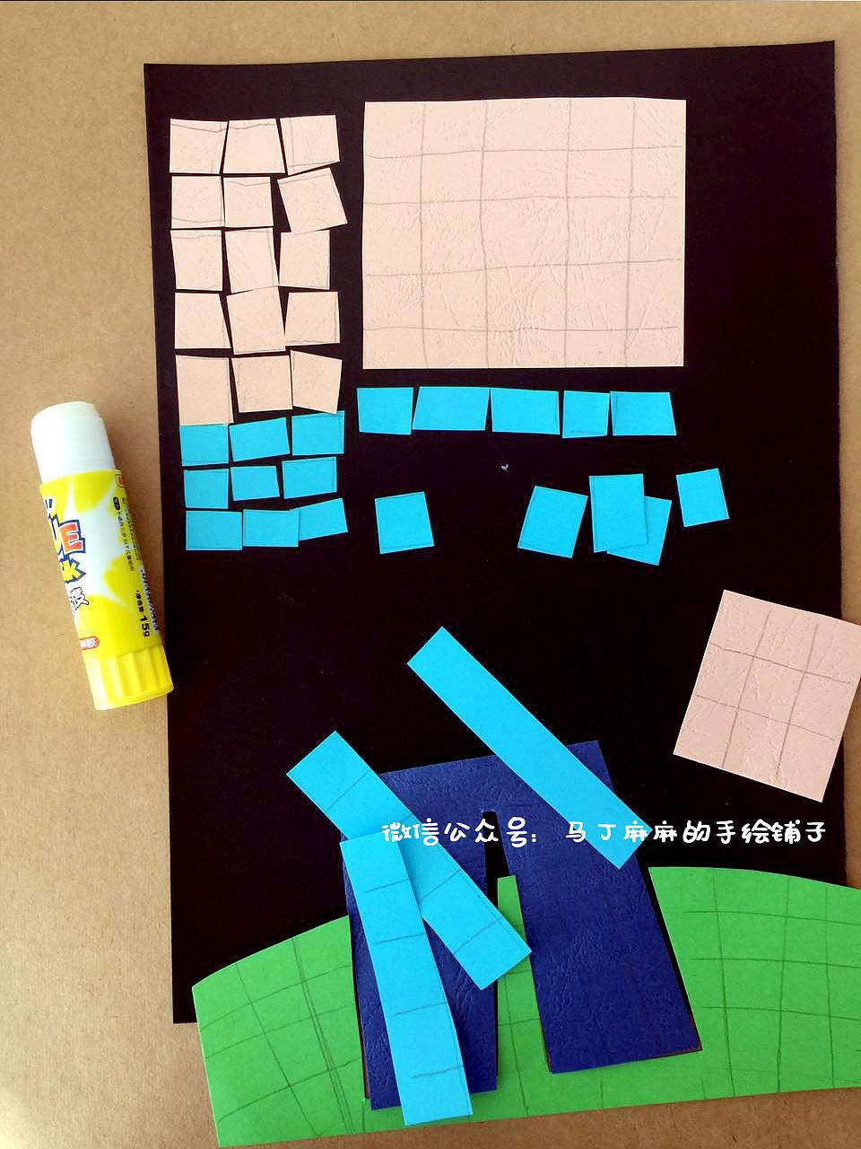 一幅儿童拼贴画的制作过程