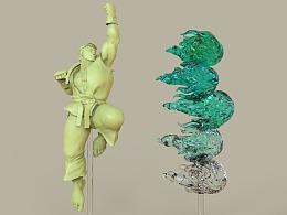 街头霸王 隆 3D打印雕像