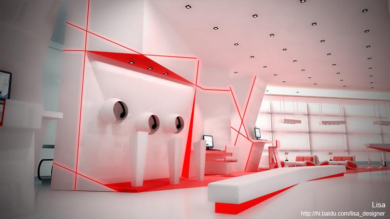 长城电子展示空间|展览|三维|lisa_designer - 原创图片