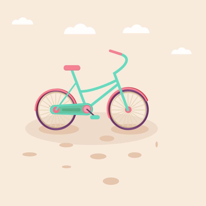 儿童骑自行车 剪贴画