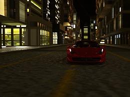 C4D城市街道渲染