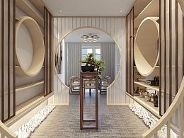 一套新中式家装设计(参赛作品)