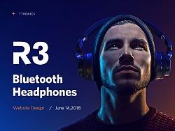 TaoTronics-R3无线蓝牙耳机产品页面设计