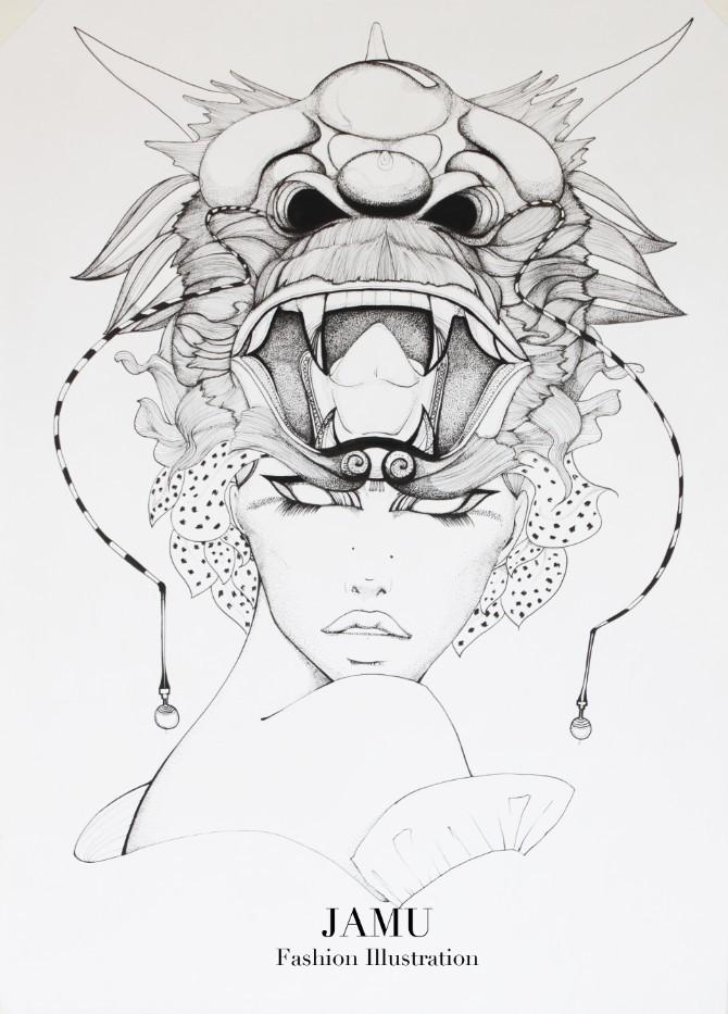 查看《JAMU時尚插畫之十二生肖合集》原图,原图尺寸:670x933