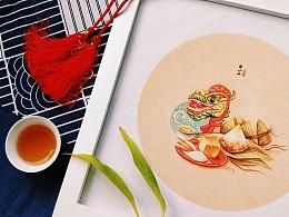 潮汕时节食俗插画