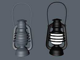 C4D初级建模-煤油灯