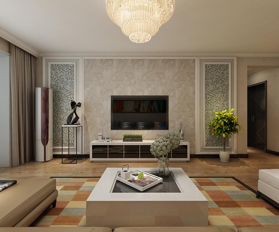 三室两厅两卫 现代简约装修 木地板家装