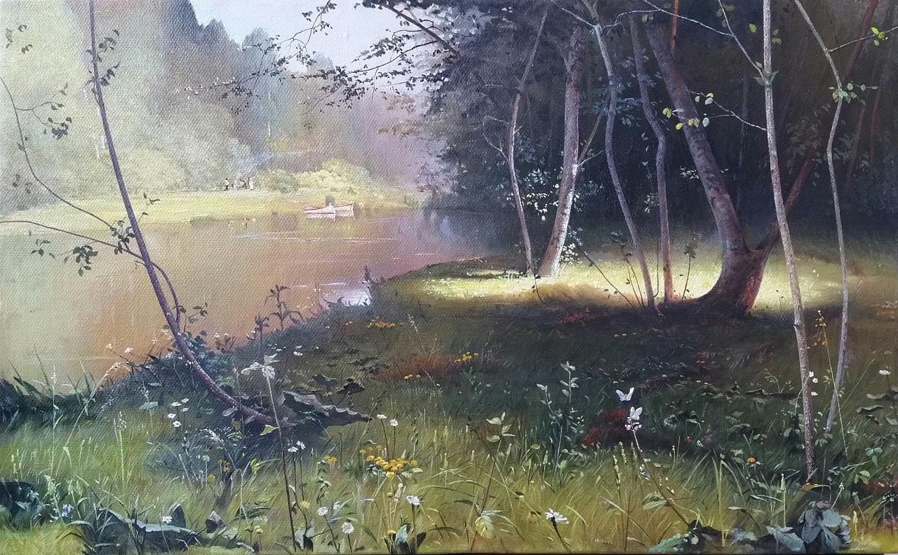 油畫風景臨摹