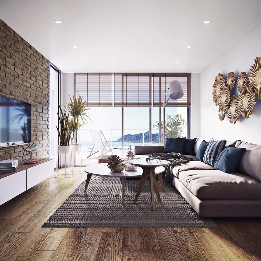 国外海边的公寓|室内设计|空间|扮家家室内设计网图片