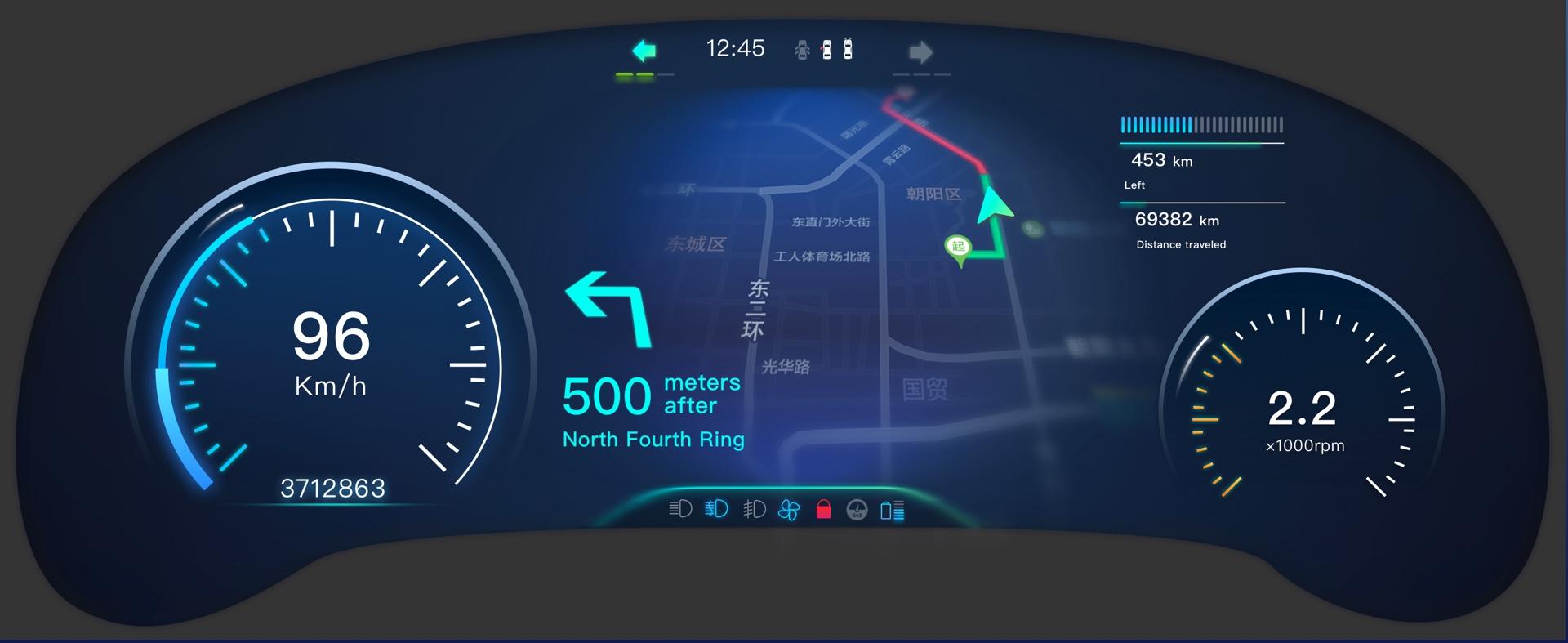 百度地图-汽车中控&仪表盘概念设计