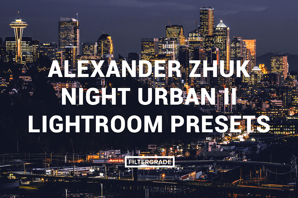【P283】摄影师Alexander Zhuk城市夜景工业风黑金胶片Lightroom预设第二版