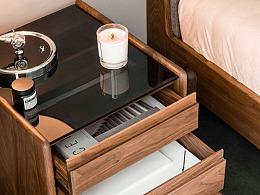 波纹床头柜|原创设计