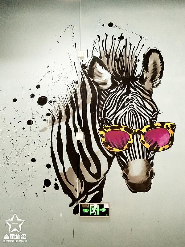 味道·新派创意餐厅墙绘作品图片