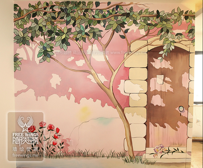 隐形门手绘墙