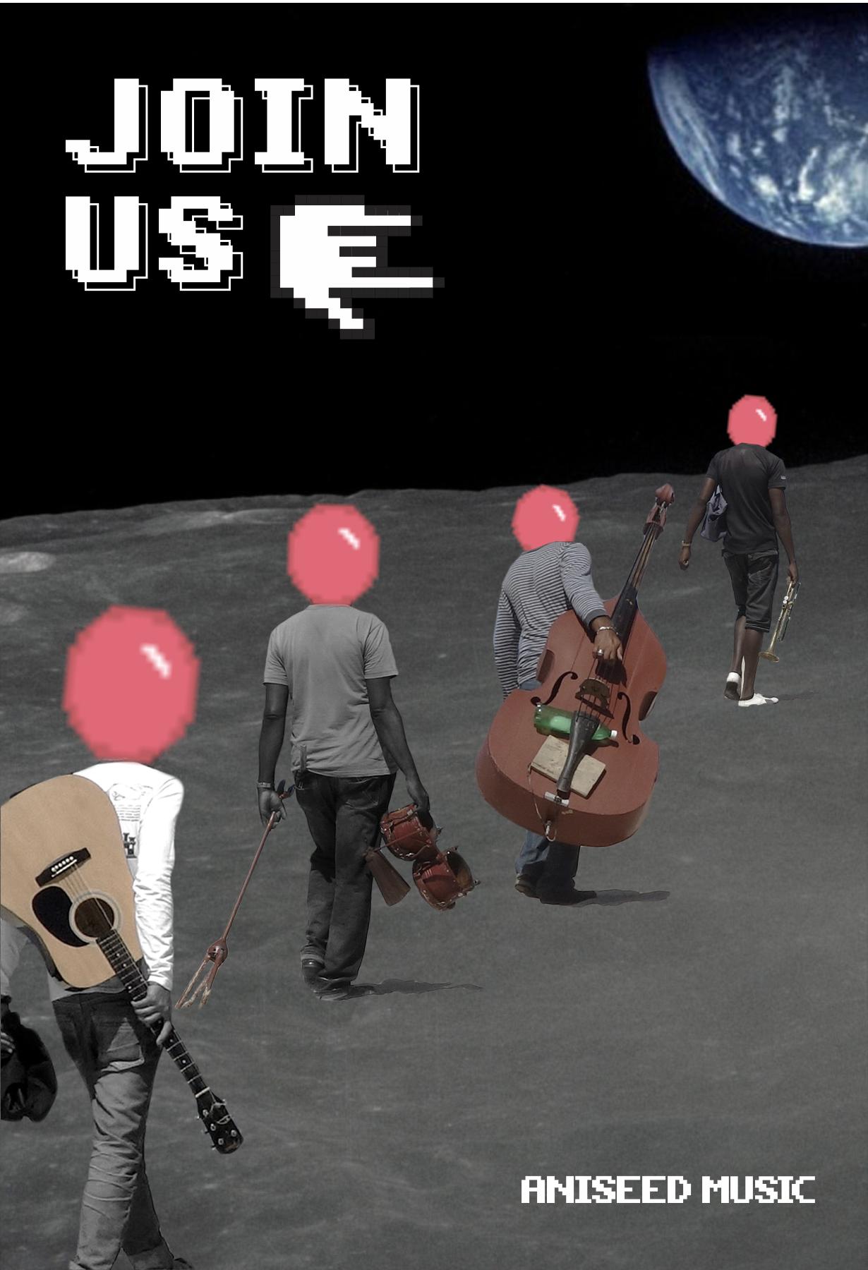 漫步太空拼贴画