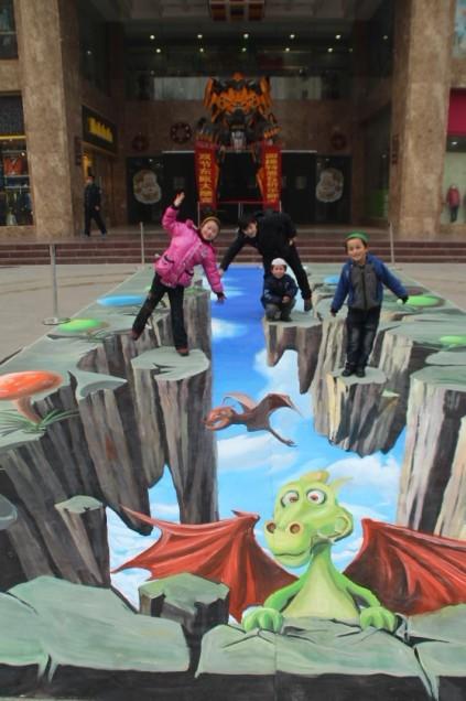 兰州市东欧国际儿童商城3d街头立体画展示-北京金盛博图片
