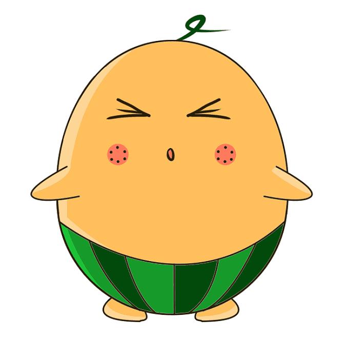 西瓜动漫呆萌可爱的小西瓜一枚