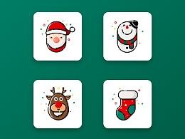 圣诞MBE风格icon