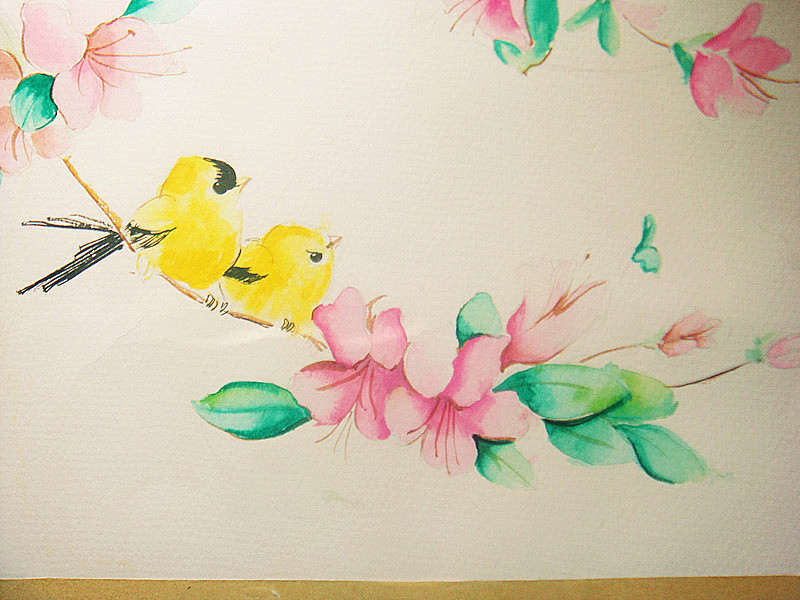彩铅手绘画小人彩铅速写油画水彩