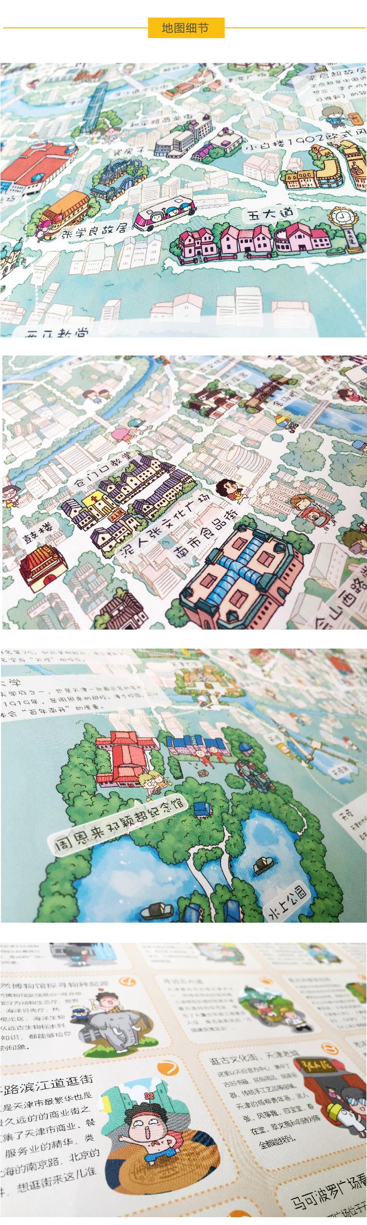 天津手绘地图|商业插画|插画|石头人旅行册 - 原创
