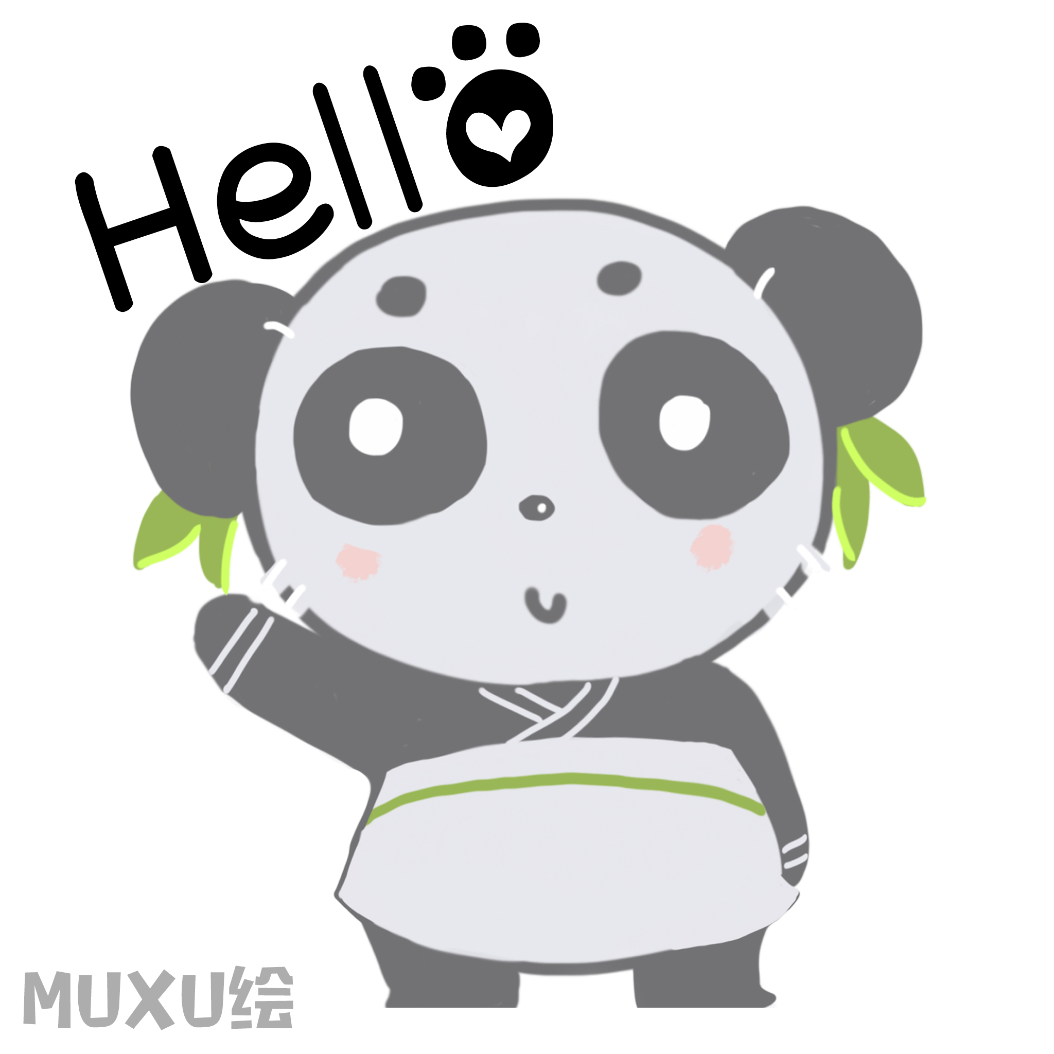 muxusunny_dear panda 动漫 网络表情 muxu绘 - 原创作品 - 站酷